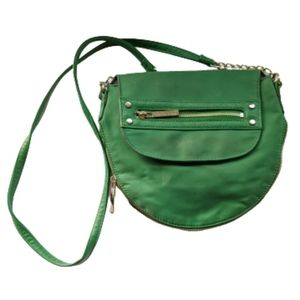 Olive and Joy Green Crossbody Messenger Bag